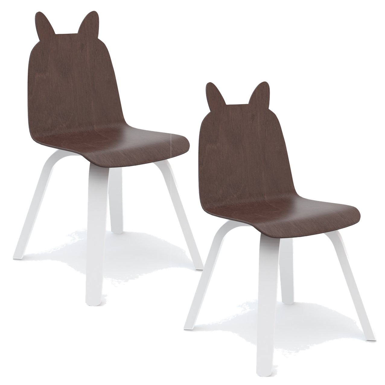 """Oeuf NYC - Chaise à oreilles """"Lapin"""" - Châtaigner"""