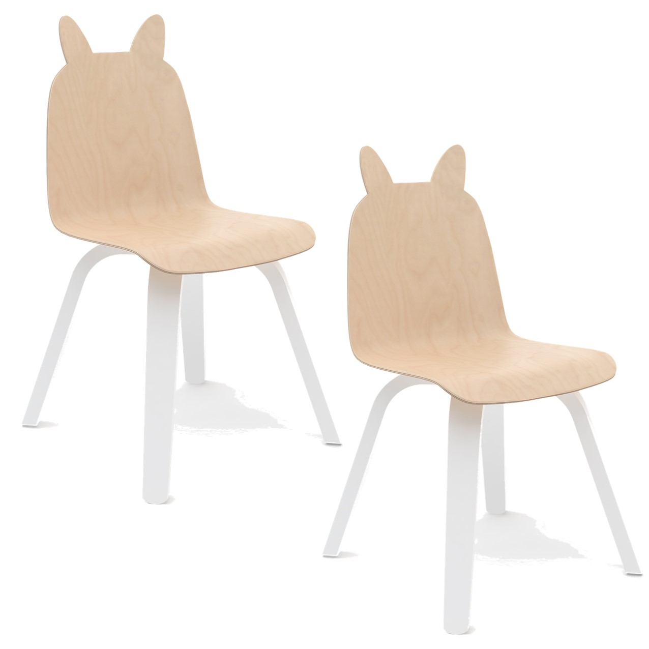 """Oeuf NYC - Chaise à oreilles """"Lapin"""" - Bouleau"""