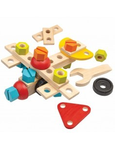 Plan toys set de construction de 40 pieces en bois