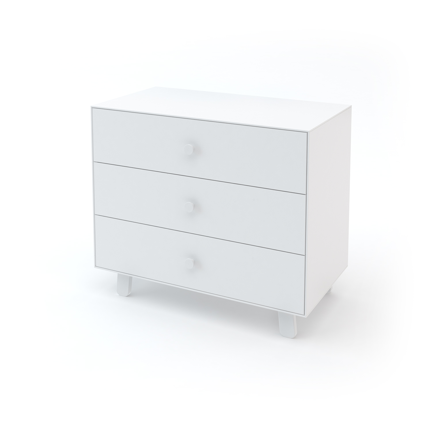 """Oeuf NYC - Commode Merlin 3 tiroirs """"Sparrow"""" blanche"""
