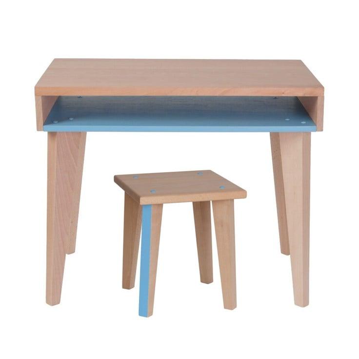 Bureau et tabouret bois fabriqué en France paulette et sacha