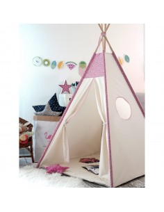 cabane de jeu enfant made in france fille rose