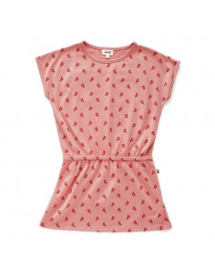 Robe fille oeuf nyc coton pima bio rose