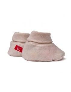 chaussons bebe bio limobasics beige mixtes