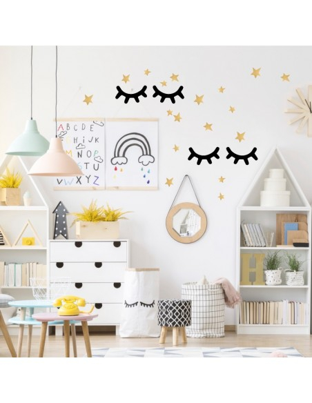 ambiance chambre stickers pom