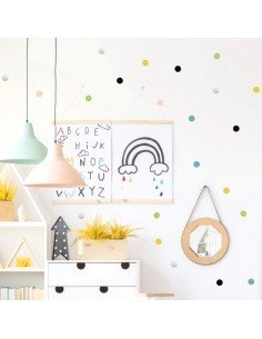 stickers repositionnables chambre enfant pois