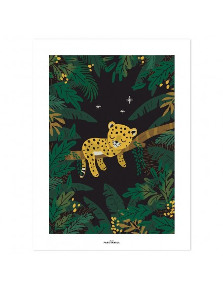 affiche poster chambre bebe guepard lilipinso