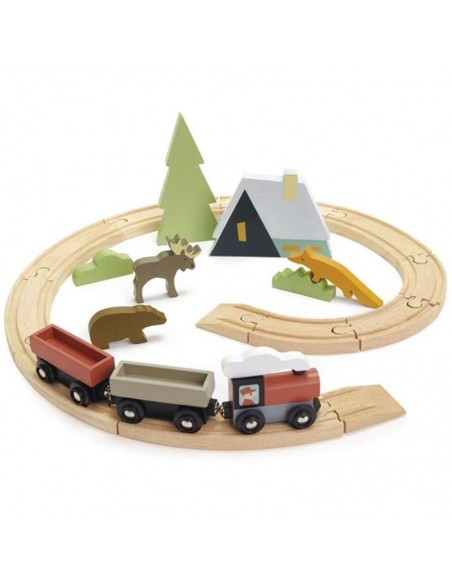 Train circuit animaux tender leaf