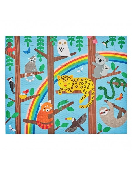 puzzle double face carton recycle jungle leopard