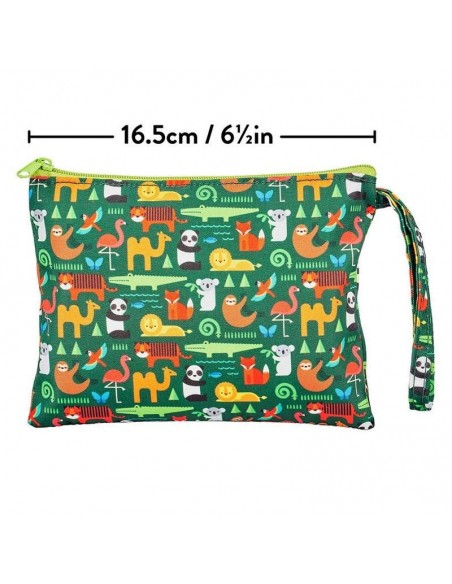 pochette rangement puzzle double face carton recycle jungle
