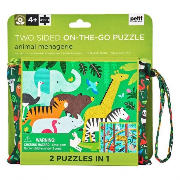 puzzle double face carton recycle jungle