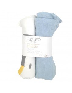 langes tres doux pour bebe en coton bio made in france